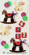 Artoz Artwork 3D-Sticker, Kinder Spielzeuge Schauckelpferd
