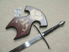 S4815 Lord Of The Rings Ranger Strider'S Medium Aragorn Sword W/ Wall Mount 26""