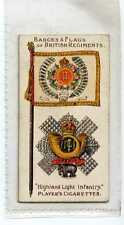 (Jb9079-100)  PLAYERS,BADGES & FLAGS OF BRITISH REGIMENTS,HIGHLAND LIGHT,1910#41