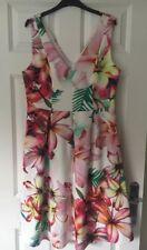 Debenhams Star By Julien Macdonald Tropical Fit & Flare Dress - Size 14 - BNWT