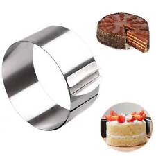 Stainless Steel Round Circle Cookie Fondant Cake Mold Pastry Tool  Adjustable^,