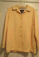 London Fog Yellow all weather coat raincoat spring dress jacket ladies Large