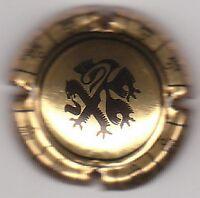 capsule champagne UNION CHAMPAGNE DE SAINT GALL, or dessin noir