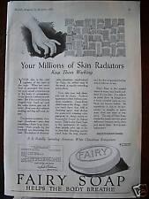 1922 Fairy Soap Millions of Skin Radiators Ad