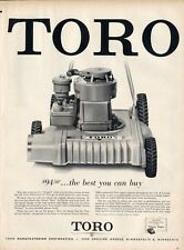 "1957 TORO PRINT AD Lawn Mower ""The Best you can Buy"" Great vintage"