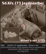 CMK 1/35 Sd.Kfz.173 Jagdpanther Driver's Compartment Set (for Dragon kit) 3085