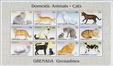 CATS : GRENADA GRENADINES 1995 Domestic Animals-Cats sheet +MS SG 1912-23+MSMNH