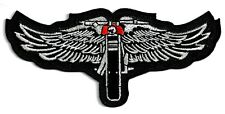 HARLEY WINGS WITH BIKE - IRON-ON PATCH