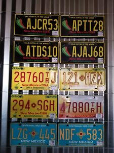 Mixed Lot Of 10 Expired New Mexico License Plates