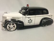 1939 Chevy Master Deluxe Police Car, 1:24 Die Cast, Jada Dub City Heat Toy