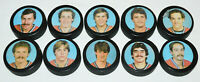 10 x MONTREAL CANADIENS 1980s HOCKEY PUCK PLAYER LOT 1986? Bob Gainey Carbonneau