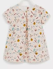 NWT ZARA Baby Girl Jacquard FUN Dress Balloon Faces Birthday  18-24 mo Twins?