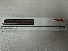 1 x Märklin H0 24922 C-Gleis Übergangsgleis zum K-Gleis 180 mm Neuware