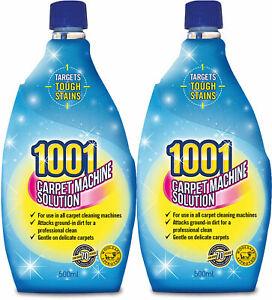 2x 1001 Carpet Machine Solution Shampoo 500ml 3in1 Professional Clean