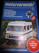 Catalogue motorcaravand voyage Mobile Camping autobus 1976 MOTORHOME CAMPING-CAR BUS
