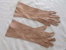 VINTAGE 1950's DUSTY PINK SUEDE ABOVE WRIST LENGTH LADIES GLOVES