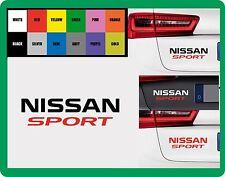 """Per NISSAN - """"NISSAN Sport"""" - Auto Adesivo Decalcomania 195mm x 55 mm"""