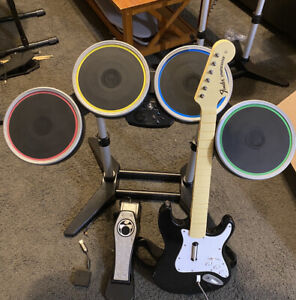 Rock Band Complete Set PS2/PS3 Drums,Pedal,Guitar,Wireless Dongle Drum set