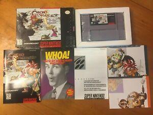 Chrono Trigger (Super Nintendo, SNES 1995) Complete CIB w/ Box Manual Ad Posters
