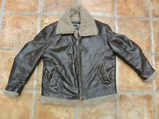 VINTAGE SEARS & ROEBUCK THE LEATHER SHOP BOMBER STYLE LEATHER COAT / JACKET