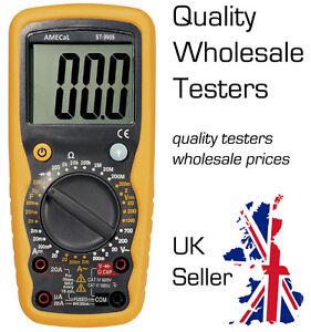 Digital Multimeter Volts AC/DC Amps AC/DC Resistance Diode Test AMECaL ST-9905