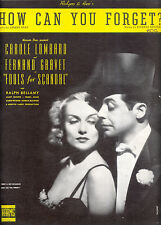 """FOOLS FOR SCANDAL Sheet Music """"How Can You Forget"""" Carole Lombard Rodgers & Hart"""