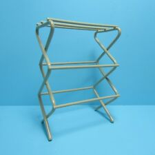 Dollhouse Miniature Metal Laundry Room Clothes Drying Rack IM65578