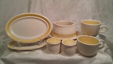 Franciscan Hacienda Gold 7 Piece Set, USA made Pottery Yellow