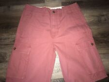 LEVI'S ~ NWT Men's Pink/Red Cargo Shorts Casual Cotton Levi Strauss ~ 30