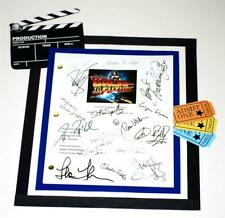 BACK TO THE FUTURE MOVIE SCRIPT SIGNED RPT STEPHEN SPIELBERG  MICHAEL J. FOX