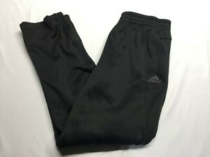 Adidas CLIMACOOL Men Polyester Zip Ankle Soccer Pants Black Size Large 3 Stripes