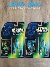 * Star Wars POTF * Greedo lot * MOC Figures * Both Variants Holo * Green