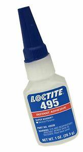Loctite 495 Super Bonder 442-49550 1oz Instant Adhesive, Clear Color