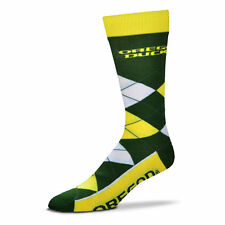 Oregon Ducks Men's Crew Socks Large Size 10 to 13 Argyle Lineup