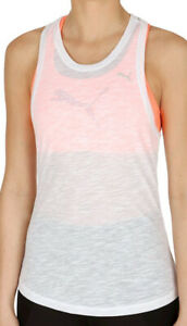 Puma Boyfriend Womens Training Vest Tank Top - White