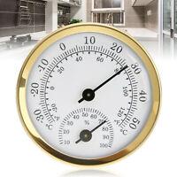 Analogue Humidité Température Compteur Jauge Thermomètre Hygromètre Ménage