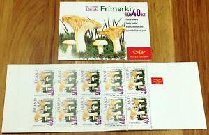 Iceland Booklet 2000 #1 Mushrooms II 40 kronur Edible Funghi Pilzen Cetas MNH