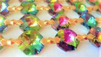 1 Yard Vitrail Rainbow Chandelier Crystals Garland Prisms