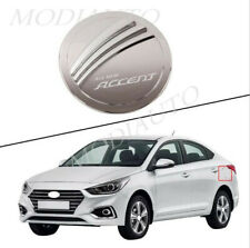 Fit For Hyundai Accent 2018-2020 Abs Silver car side Fuel Cap Cover Decor Trim (Fits: Hyundai Accent)