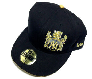 New York New Era Gold Stated 59FIFTY Fitted Hat Black Gold