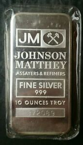 Johnson Matthey 10oz Silver Bar in Plastic