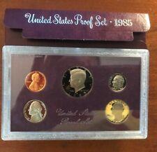 1985  U.S. Mint 5 Coin Proof Set - Original Box / Packaging
