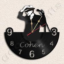 Leonard Cohen Wall Clock Vinyl Record Clock