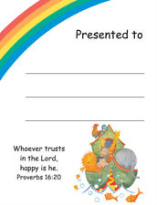 20 Children's Presentation Labels With Bible Text - EB0458