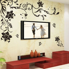 Black Flower Decoration Wall Sticker Home Decor Living Room Wall Decors R_ti