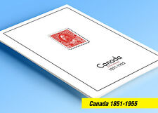 COLOR PRINTED CANADA [CLASS.] 1851-1955 STAMP ALBUM PAGES (37 illustrated pages)