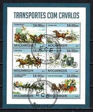 Chevaux Mozambique (49) série complète de 6 timbres oblitérés