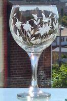 Elegant Hand Cut Cascade Design Large 22oz Goblet / Gin Glass (All Dull Cutting)