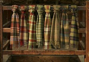 Bronte Luxury Warm Lambswool Scarf - Dales Check Scarves - Made in Britain