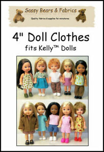 """4"""" Doll Clothes Pattern - Fits Kelly dolls"""